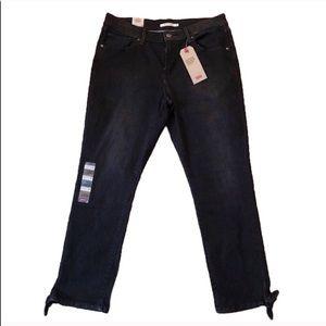 Levi's / Black Mid-Rise Skinny Ankle Jeans